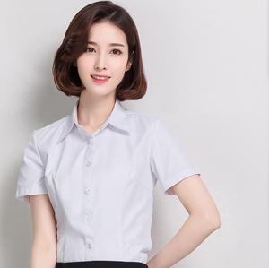 职业衬衣女短1
