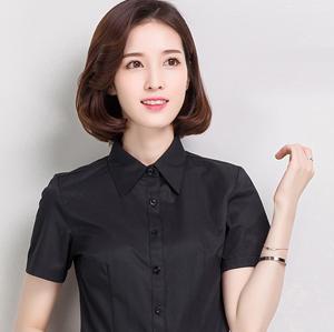 职业衬衣女短4